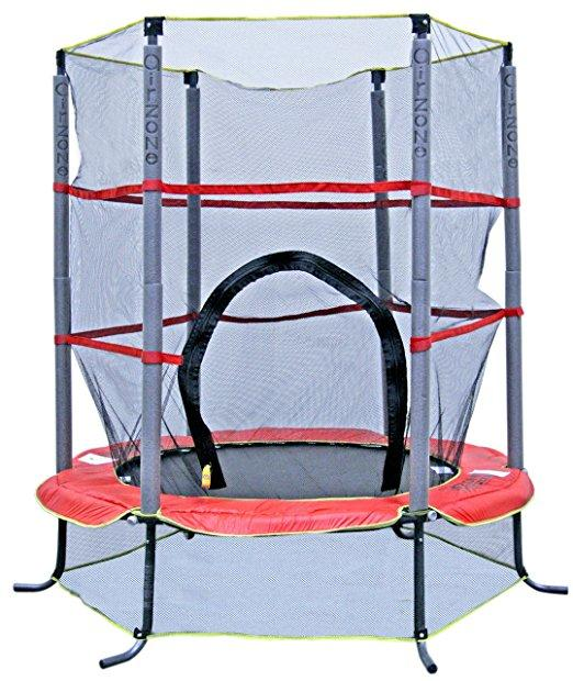 "Airzone 55in kids trampoline and enclosure $286.00 delivered Get the 55"" Kids Airzone Trampoline and add a little bit of fun to your backyard."