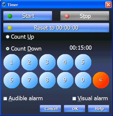 Timer Voyager 4.0 includes two timers, Timer1 and Timer2. Both can be configured as either count-up (chronometer) or count-down (timer).