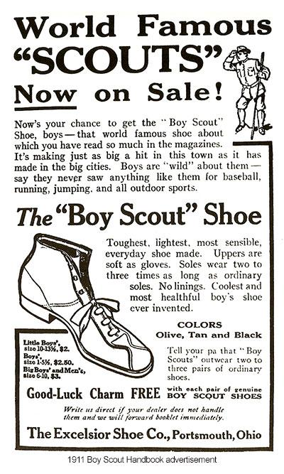 "It came in olive, tan, and black, and sizes for ""Little Boys,"" ""Boys,"" and ""Big Boys and Men."