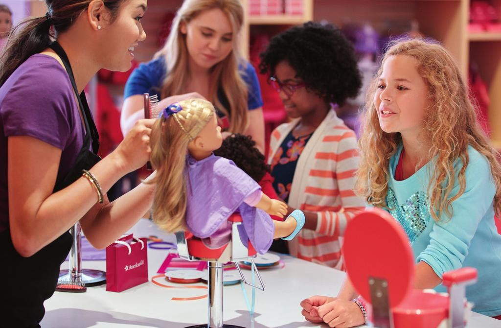 CONFIDENCE & STYLE GO HAND IN HAND DOLL HAIR SALON Get the ultimate styling treatment for her doll, including