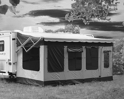 VACATION'R A ROOM FOR VERTICAL ARM AWNINGS RV Made of durable, lightweight polyester material - the same material used for tents.