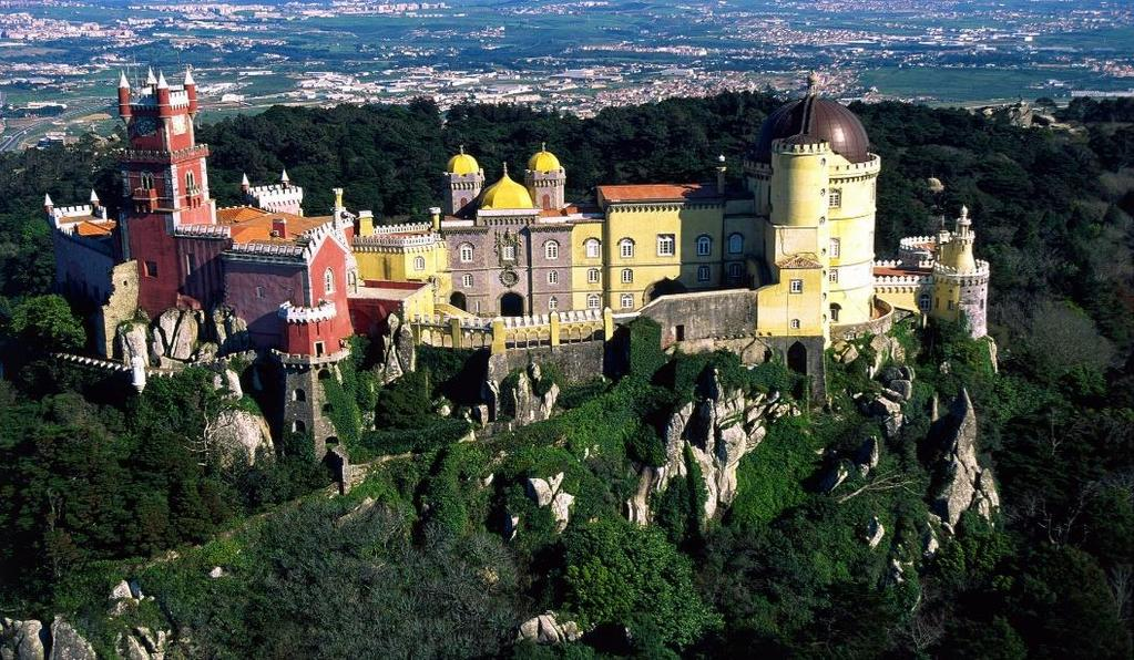 Day 3: Full Day Excursion to Sintra, Estoril & Cascais Pena Castle in Sintra Cascais Estoril After breakfast,