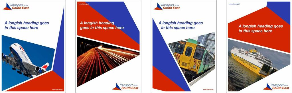 Transport for the South East Style Guide 04 In print Use the arrow device at unusual angles and