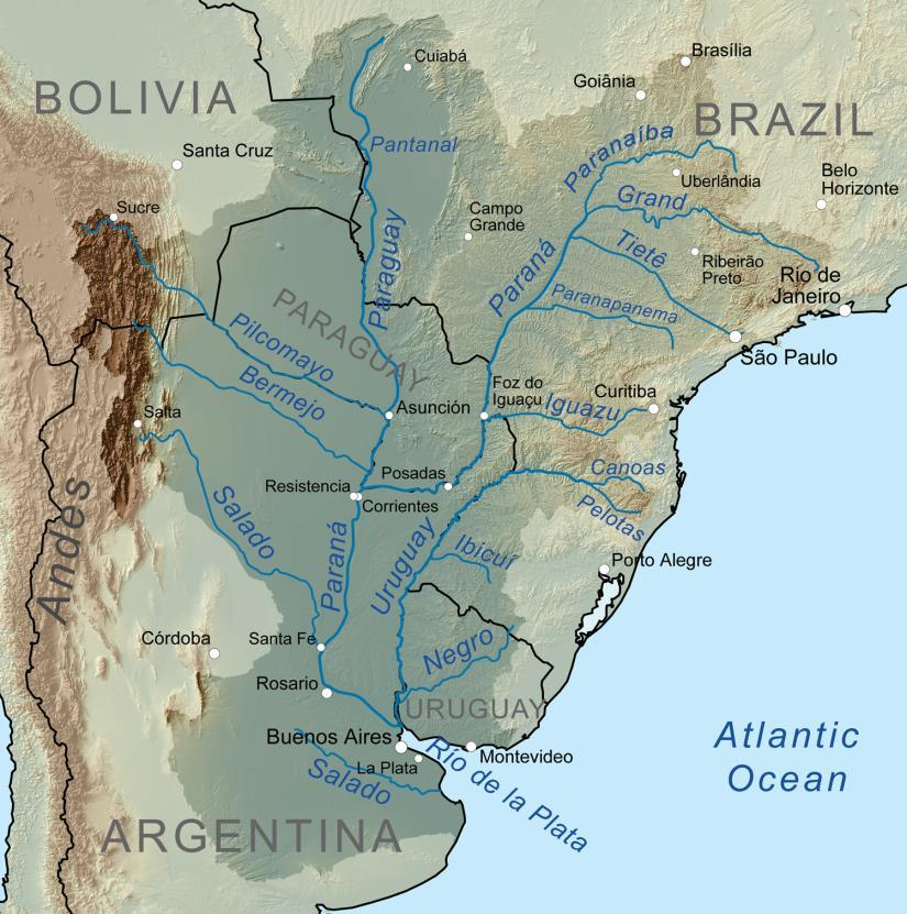commercial highway River System Rio Parana