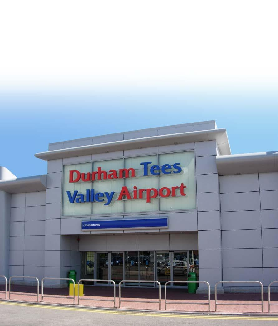 THE CHARTERED INSTITUTION OF HIGHWAYS & TRANSPORTATION Durham Tees Valley Airport Durham Tees Valley Airport began life in 1941 as RAF Middleton St George.