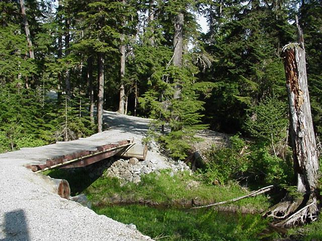 Easy Hikes Pine Creek Trail 45 Minutes to 1 Hour Return Trip Turn onto the Kitamaat Village Road and travel 2 km down the road, across two bridges and turn right at