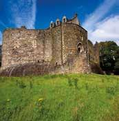 Mighty Dunstaffnage saw action during the Wars of Independence (1296 1356), and was famously besieged by King Robert Bruce in 1308, after his victory over the MacDougall s at the Pass of Brander,