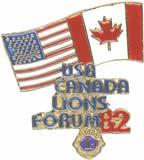 USA/Canada Lions Leadership Anniversary Pins 5th Anniversary 1982 Louisville, Kentucky 10th