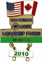 USA/Canada Lions Leadership Special Pins 2010 Milwaukee, Wisconsin 2012