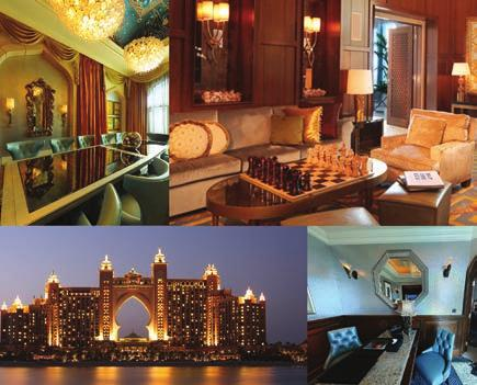 a total of 346 hotel rooms. FSRG supplied mirrors in all hotel rooms Atlantis The Palm, Dubai.