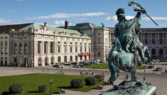 The Hofburg area has been the documented seat of government since 1279 for various empires and republics.