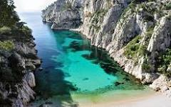 See the Mediterranean Sea and hop on a boat to explore the spectacular Calanques, a geologic formation in the form