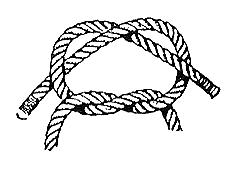 KNOTS and lashes (The hammers and nails of survival.) ABOVE: A Granny Knot often tied mistakenly when attempting to tie a square knot. Note: This is a very weak knot and should be discouraged.