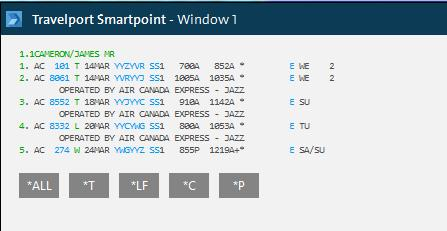 Quoting Multiple Fare Families For multi-leg itineraries, Smartpoint displays each fare flight