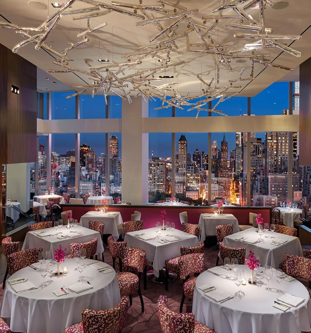THE HEIGHT OF NEW YORK CUISINE With inventive cuisine, tempting cocktails and