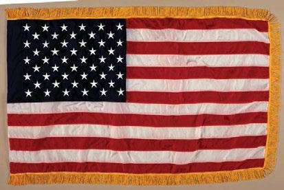 F-US/NIN-06 5 x 8 F-US/NIN-07 U.S. Army Field Flag U.S. Army Field Flag The U.S. Army Field flag is 3 x 4 and is manufactured in either embroidered rayon or appliqued nylon.