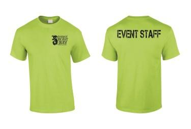 day of the event, look for event staff in a