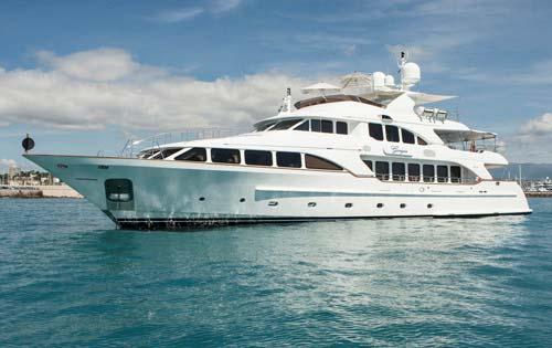 "Giorgia SPECIFICATIONS Length: 36.60 metres (120' 1"") Beam: 7.90 metres (25' 11"") Draft: 1."