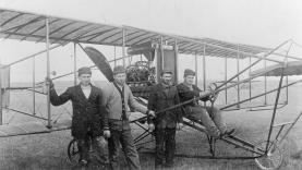 On July 23, 1910, seven thousand people in Omaha watched a twelve minute exhibition flight by Glenn H. Curtiss.