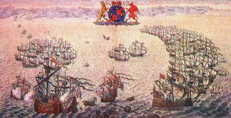 Summary Spain was angry at the English for helping Protestants in Spain behind their backs so Philip II ordered an invasion on England called the Spanish Armada.