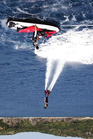 FLY BOARD AND ONE OF THE TWO JET SKIS
