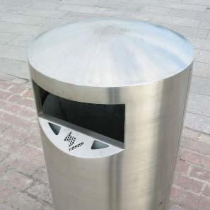 LITTER BINS WITH CIGARETTE WASTE FACILITIES Standard options Where there