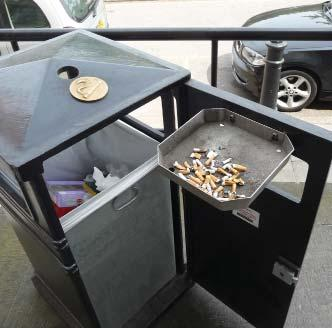 cigarette disposal features can be integrated into many of our standard