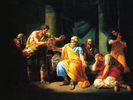 Surrounded by supporters, Socrates prepares to drink poison. destruction their fleet, their army there was nothing that was not destroyed, and few out of many returned home.
