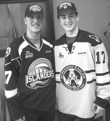 (Healey photo) FALL RIVER: Being drafted into the Quebec Major Junior Hockey League is just the first step for two Fall River and Beaver Bank hockey players in their quest to continue playing the