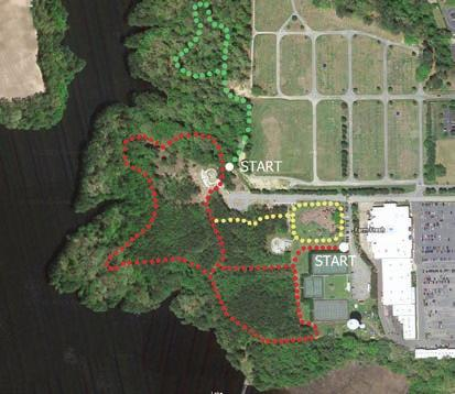 Lake Meade Park Trail 201 Holley Lawn Parkway 2 Miles (red) / 1.2 Miles (yellow) Surrounded by beautiful landscaping, waterfront views set the tone for this easy 2-mile (round trip), stone-dust trail.