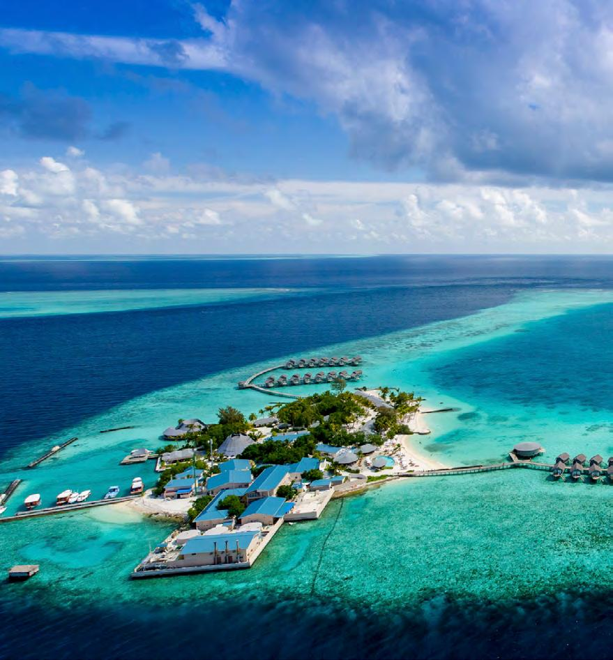 CENTARA RAS FUSHI RESORT & SPA MALDIVES Just 25 minutes by speedboat from Malé International Airport, the refined retreat for all those over 12 years old, Centara Ras Fushi Resort & Spa, is a deluxe