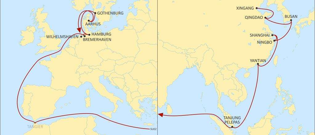 ASIA NORTH EUROPE ALBATROSS WESTBOUND Fast Germany bound product with great coverage of Korea, China and SEA origins.