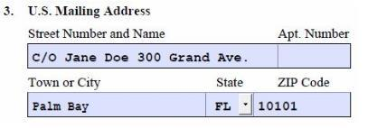 This address is the location to which USCIS will mail your receipt notice and EAD card.