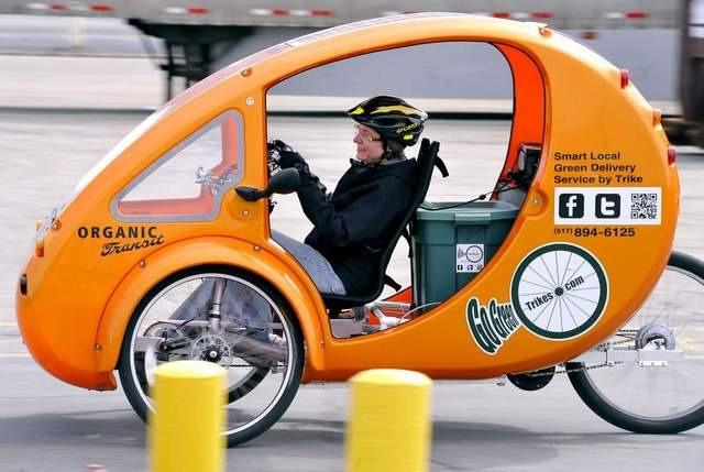 Lansing woman launches trike-based commercial delivery service Yvonne LeFave Apr.