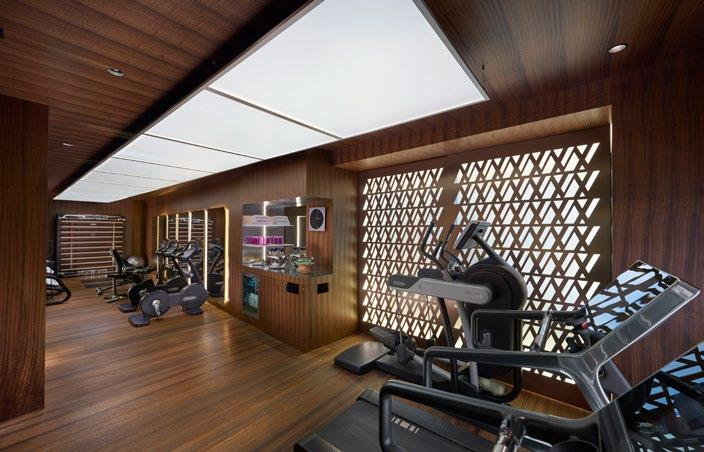 With a fully equipped fitness centre,
