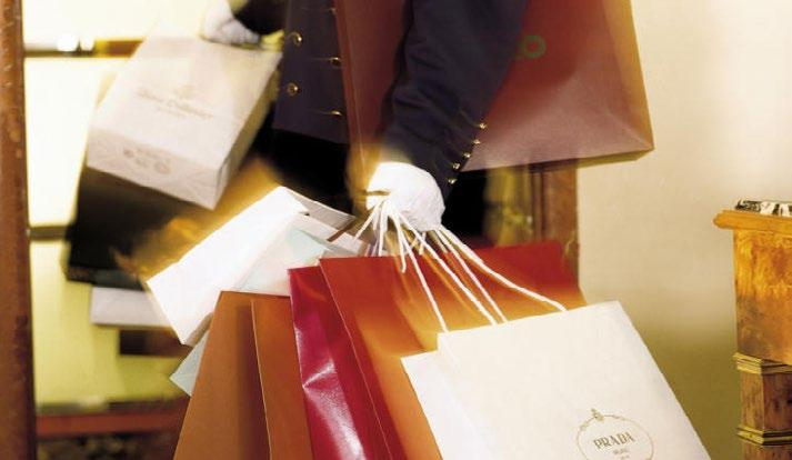 The hotel can arrange for a private shopping