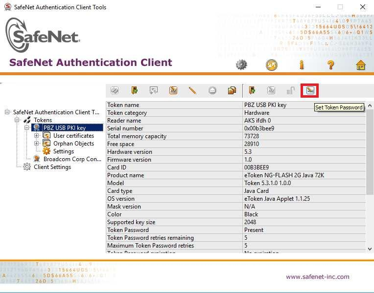 Slika 15 - Pokrenite SafeNet Authentication Client Tools 5.