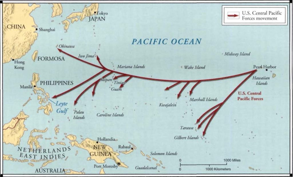 Island-Hopping From February 1943 on, the US forces