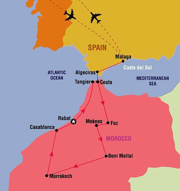 Full Day Tour to the ancient town of Malaga. Round-Trip airport transfers.