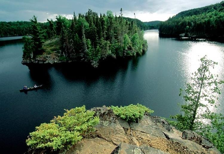 Boundary Waters Boundary Waters is situated within the Superior National Forest in northeastern Minnesota.