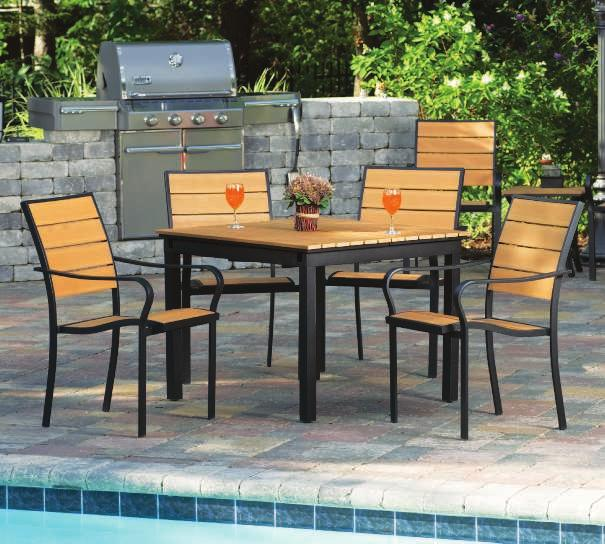 sturdy and comfortable THE CUMBERLAND Cumberland Faux Wood CUMBERLAND DINING SET You
