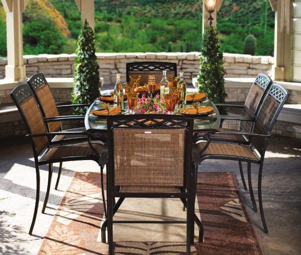 elegant beauty THE PARKVIEW Parkview Sling Fabric PARKVIEW DINING SET Mocha