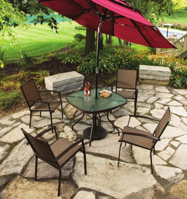 smart and simple THE BRISTOL BRISTOL DINING SET Bristol Sling Fabric Furnish your outdoor space in