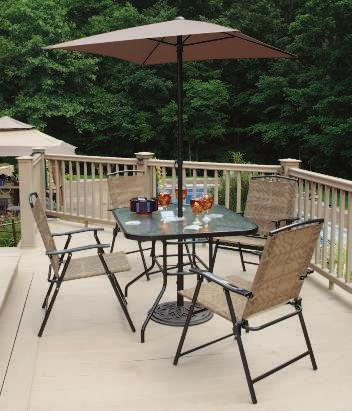 Summerlin Sling Fabric Summerlin Umbrella Fabric SUMMERLIN PATIO SET A slate gray finish on this table s powder coated steel frame contrasts with a
