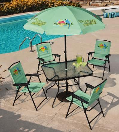 Umbrella and Chair Fabric MARGARITAVILLE PATIO SET Take the essence of beach living with you!