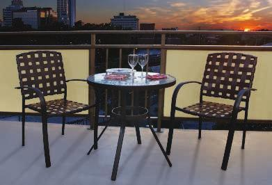 Baxter Faux Wood BAXTER BISTRO SET This friendly set encourages your visitors to make themselves at home.