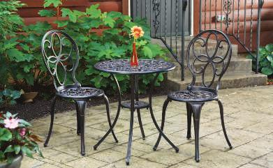 "5""H Mosaic Wicker Mosaic Tabletop MOSAIC BISTRO SET The magic of this weather-resistant tabletop is its beautiful rust, cream and brown resin inlay tiles in an 8-point star"