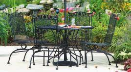 wrought iron. This timeless classic stays in fashion year after year.