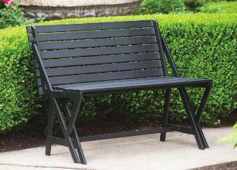 CONVERTIBLE BENCH/PICNIC TABLE This simple bench for 2 unfolds in one swift move to become a 4-seat