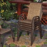 "Set Includes: 2 CHAIRS 19""W x 19""D x 32""H TABLE 24"" Diameter x 25""H C, D, E F THE NEWPORT COLLECTION Outdoor sling fabric with"